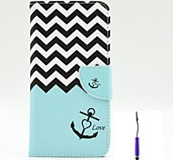 The Sea Waves Pattern PU Leather Case Cover with A Touch Pen ,Stand and Card Holder for iPhone 6