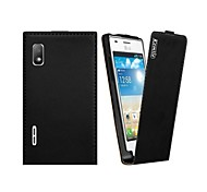Kemile luxury Newest Slim Flip Phone Cover Case  for  LG Optimus L5 E610 E612(Assorted Colors)