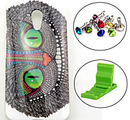 Smile Cat Pattern TPU Soft Case with Anti-dust Plug and Stand for Motorola G2