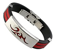 Fashion Flaem 8.5cm Men's As Picture Stainless Steel Charm Bracelet(As picture)(1 Pc)