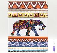 fleurs éléphants modèle étui en cuir PU couverture avec un porte-stylet tactile et titulaire de la carte pour iPad 2/3/4