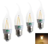 Lámparas LED de Filamento Decorativa Zweihnder CA E26/E27 2 W 2 LED Dip 180 LM Blanco Cálido AC 100-240 V 4 piezas