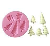 3d Fondant gâteau de silicone décoration moule arbre de Noël moule en silicone