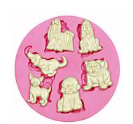 мульти мило собака силиконовые формы для украшения торта силиконовые формы для помадные конфеты ремесла ювелирных изделий PMC смолы глины