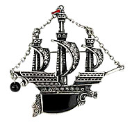 European Fashion Vintage Sailing Ship Alloy Brooch