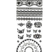 1PC 3D Black lace Nail Art Stickers Nail Wraps Nail Decals Flower Heart Fashion Nail Polish Decorations