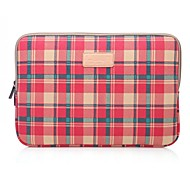 LISEN 10'' 11'' 12'' Red Plaid Pattern Protective Sleeve Laptop Computer Bag