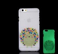 Hedgehog Pattern Glow in the Dark Hard Case for iPhone 6
