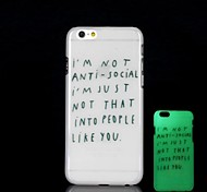 iPhone 6 Plus compatible Novelty/Graphic/Glow in the Dark Back Cover