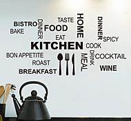 стикеры стены Наклейки на стены, кухонные английских слов&цитирует наклейки стены PVC