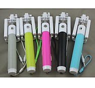 Selfie Without Bluetooth Folding Monopod for Samsung Iphone and other Phones(Assorted Color)
