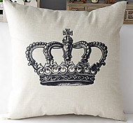 Modern Style Eiffel Tower Patterned Cotton/Linen Decorative Pillow Cover
