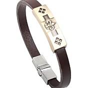 Тина - цветок кожаный браслет корейской моды сплава любви в день