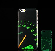 Speedometer Pattern Glow in the Dark Hard Case for iPhone 6