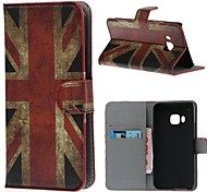 Retro Union Jack PU Leather Case Cover with Stand and Card Slot for HTC One M9