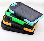6500mAh Shockproof Solar Power Bank for iPhone6s/6plus/5s Samsung S4/5 and other Mobile Devices