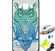 Owl Pattern Back Case and Anti-dust Plug and Stand for Samsung Galaxy A5