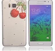 Cherry Pattern Crystal Diamond Rhinestone Hard Case Cover for Samsung Galaxy Alpha G850F