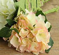dos grandes hyfrangeas rosa artificial flores