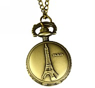 Men's Eiffel Tower Analog Quartz Pocket Watch