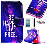 KARZEA™Free Life Pattern PU Leather Case with Screen Protector and Stylus+Dust Plug for Samsung Ace 4 G357