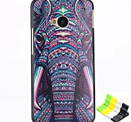 Elephant Head Pattern PC Hard Back Cover Case and Stand for HTC One(M7)
