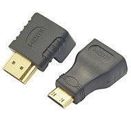 HDMI to Mini HDMI Converter Adapter + HDMI 270 Degree Adapter