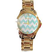 Women Watch Partysu Retro Stripe Steel Belt Geneva Watch Assorted Colors D0306