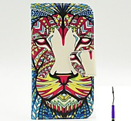 The King of The Forest Pattern PU Leather Case Cover with A Touch Pen ,Stand and Card Holder for LG G3