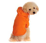 Hunde Mäntel / Pullover / Kapuzenshirts Rot / Schwarz / Orange Winter einfarbig