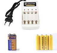 Battery Charger Set=4*Ni-Cd AA 700mAh 1.2V Rechargeable Battery+1*9V Non Rechargeable Battery+AA/AAA Batter Charger