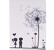 Wkae® Dandelion and lovers Pattern PU Leather Case with Stand for iPad Air/iPad 5