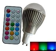 1pcs SchöneColors® GU10 9 W 3PCS High Power LED Dimmable/Remote-Controlled/Decorative Globe Bulbs AC85-265V