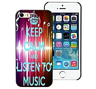 Listen To Music Design Hard Case for iPhone 5/5S