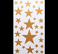 1PC Gold Tattoos Delicate Stars Temporary Tattoos Flash Tattoos Metallic Tattoos Wedding Party Tattoos(20.5*10cm)