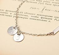 Fashion Whippletree Word Silver Alloy Bracelet(1 Pc)