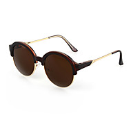100% UV400 Women's Round PC Retro Sunglasses