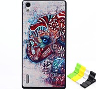 Elephant Pattern PC Hard Case and Phone Holder for Huawei P7