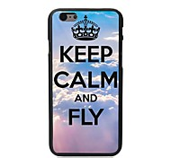 Keep Calm and Fly Design Hard Case for iPhone 6