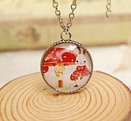 Fashion New Cute Cartoon Beautiful Mushroom Rabbit Sweater Necklace