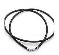 Männer / 2 mm schwarzes Lederband Halskette Frauen