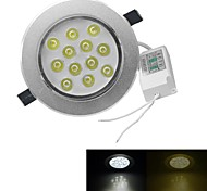 jiawen® dimmable 12w 1080-1200lm 3000-3200k / 6000-6500k chaude lumière blanche / blanc led receseed (AC 100-240V)