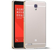 HHMM Aluminum Frame PC Back Cover Mobile Phone Covers Protective Cases For Xiaomi RedMi Note (Assorted Colors)