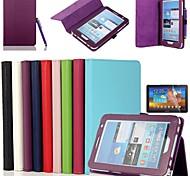 Samsung Tab 2 7.0 (P3100/P3110) - Full Body Cases/Hoezen Met Stand - Solide Kleuren - Samsung Tablet (