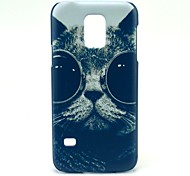 Sunglass Cat Pattern Hard Case Cover for Samsung Galaxy S5 Mini SM-G800