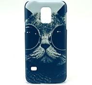 Sunglass Cat Pattern Hard Case Cover for Samsung Galaxy S5 Mini SM-G800