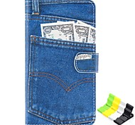 Jeans Pattern PU Leather Full Body Case Have A Perfume and Phone Holder for LG G3