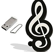 desenhos animados modelo de nota musical 8GB USB 2.0 Flash memory stick pen drive pendrive