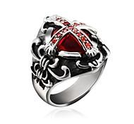 Муж. Массивные кольца Камни по месяцу рождения бижутерия Цирконий Титановая сталь 18K золото Бижутерия Назначение Свадьба Для вечеринок
