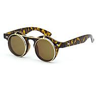 lunettes de soleil rétro acryliques ronde anti-réfléchissantes